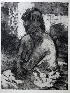 Curio Starke Frau 1994 64 x 50 cm Aquatinta und KN  320.- €