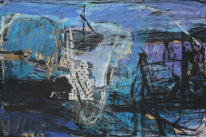 Hafen am Haff, 2007, Acryl,Collage