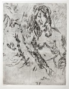 ONH  Zwei Mädchen im Gespräch 1977 31 x 24 cm vernis mou  280.- €