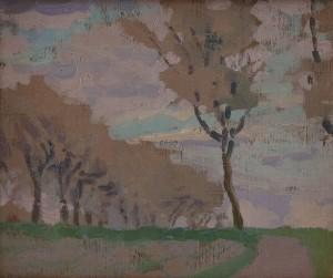 Walter-Kurau - Herbstliche Landschaft mit Bäumer 02
