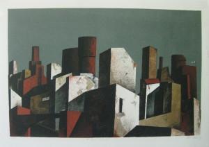 u aukt 2016 Kastner Manfred die ideale Stadt  1986 Zinkogr 66 x 46,5 cm  350,-(2)