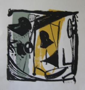 u aukt 2016 Rainer Zille o.T. 1994 Litho 51 x 42 o.R.