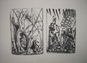 u aukt 2016 Strawalde_ 2 Illustrationen zu Les Chants de Maldoror von Comte de LautrÃ_amont_ 2004_ Litho_ 300_- â_