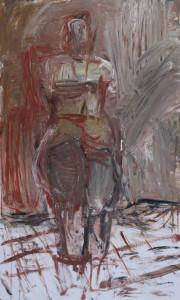 Christa Panzner, Akt, 2017, 100x60, Acryl