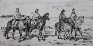 Katrin Lau Reiter am Strand