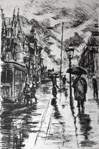 Katrin Lau Strasse im Regen