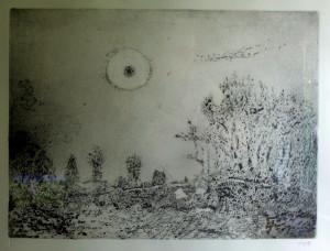 ONH Landschaft mit Sonne I