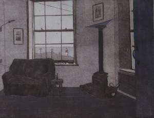 Peter Panzner, Interieur LXXXIII, 2017,50x65, Farbaquatinta