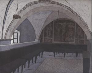 Peter Panzner, Interieur LXXXV, 2017, 50x65, Farbaquatinta