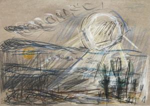 Sibylle Leifer Landschaft mit 2 Sonnen