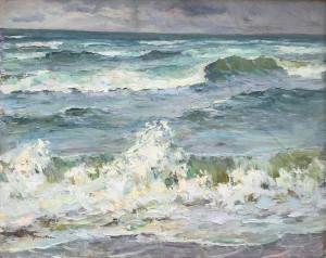 Zank Gericke starker Wellengang an der Ostsee